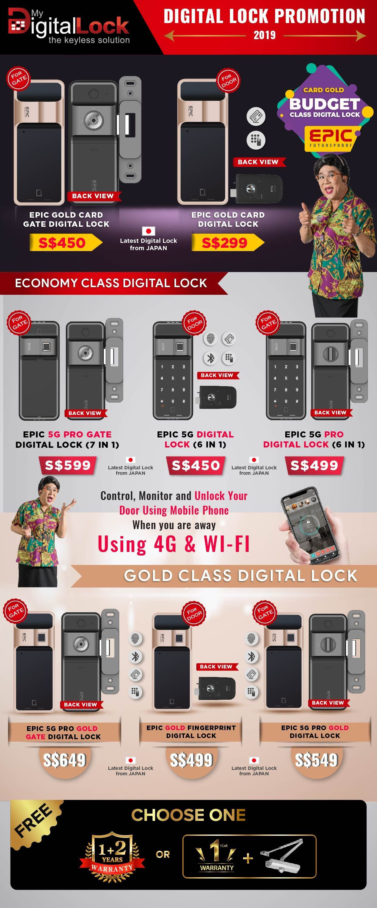 Buy Economy class Gate Digital Lock @ My Digital Lock. Call 9067 7990`
