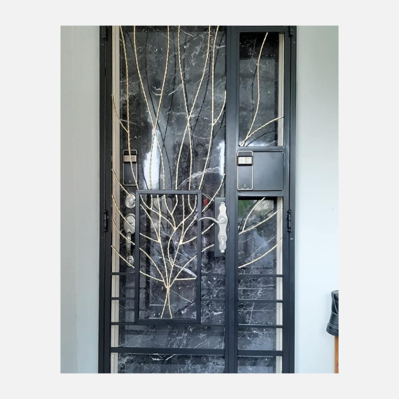 Leaf Wrought Iron Gate