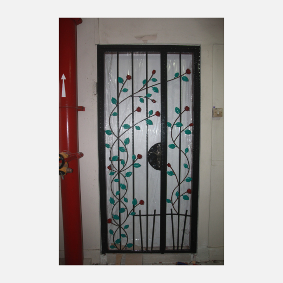 Rose Wrought Iron HDB Gate