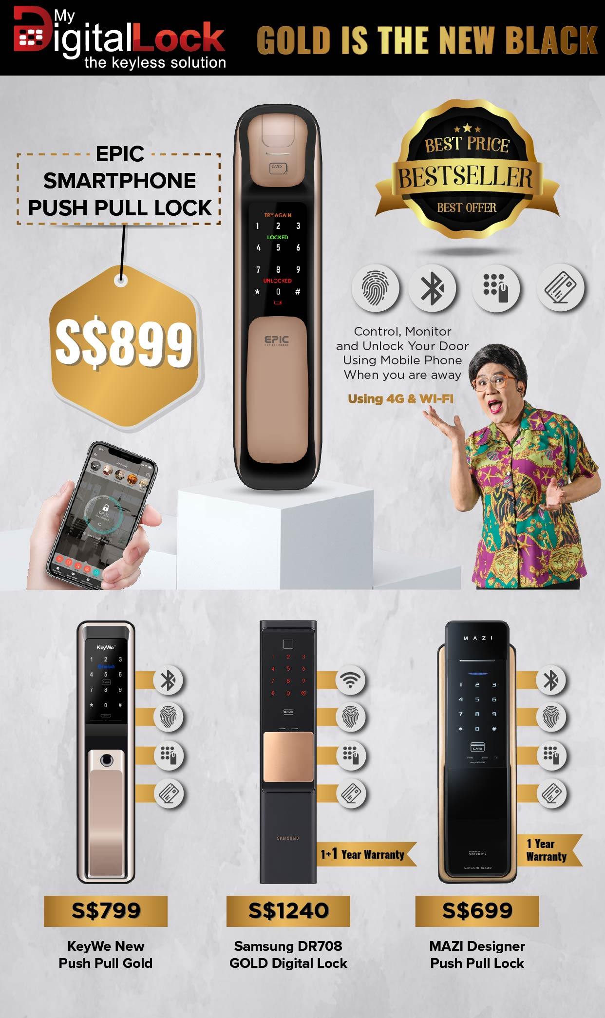 samsung digital lock - Best Seller