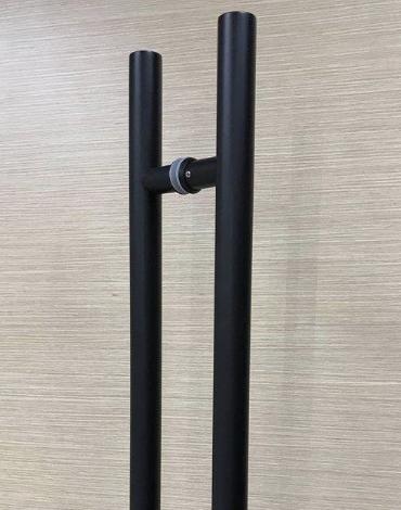 Black Round Pull Handle