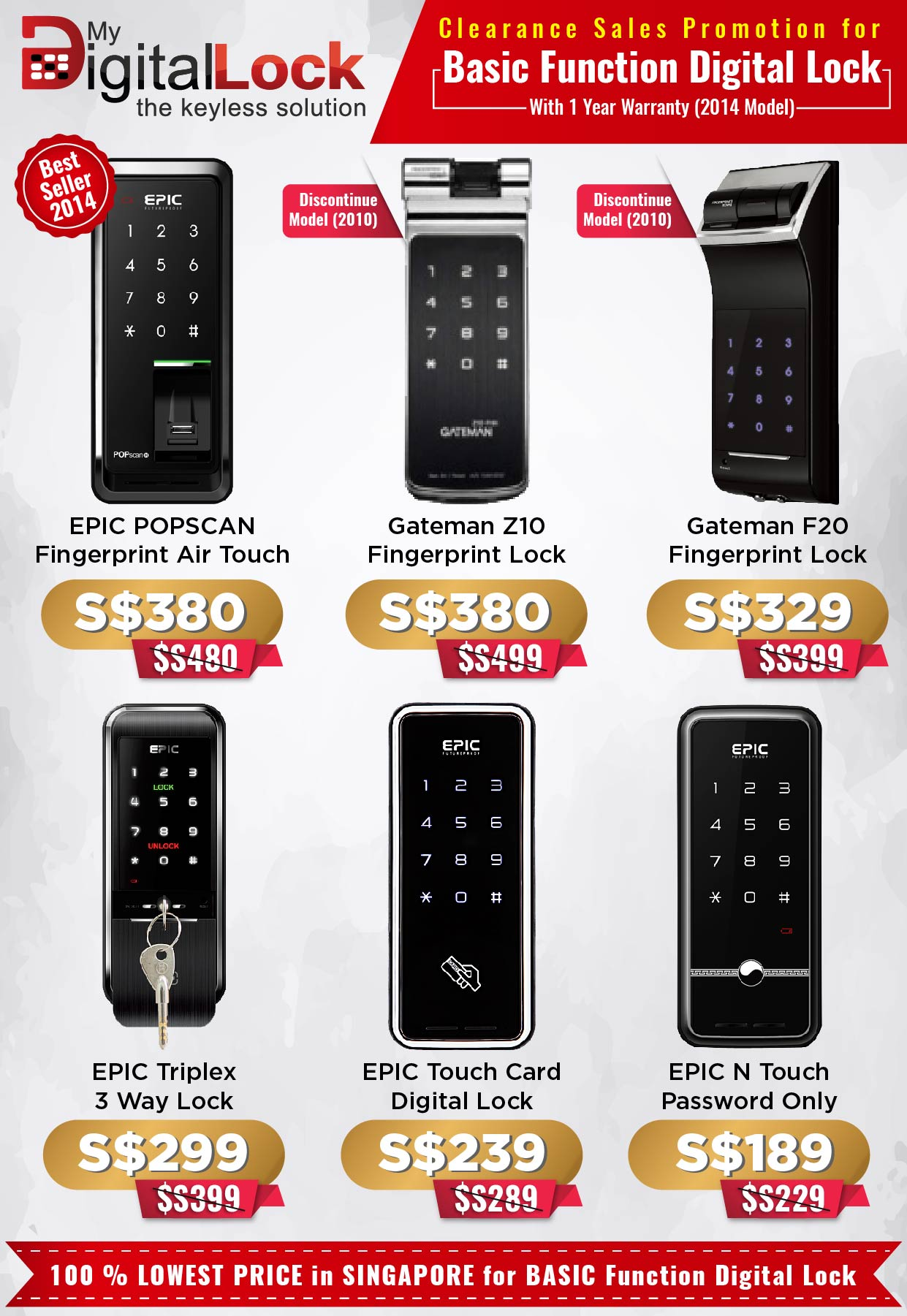 gatemen digital lock - Clearance-Sales-Promotion-for-EPIC-and-Gateman