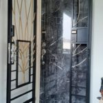 Designer Laminate Fire Rated HDB Main Wooden Door Single Leaf 3×7 Feet