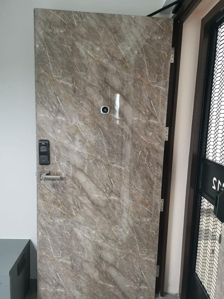 Designer Laminate Solid HDB Main Wooden Door Single Leaf 3x7 Feet