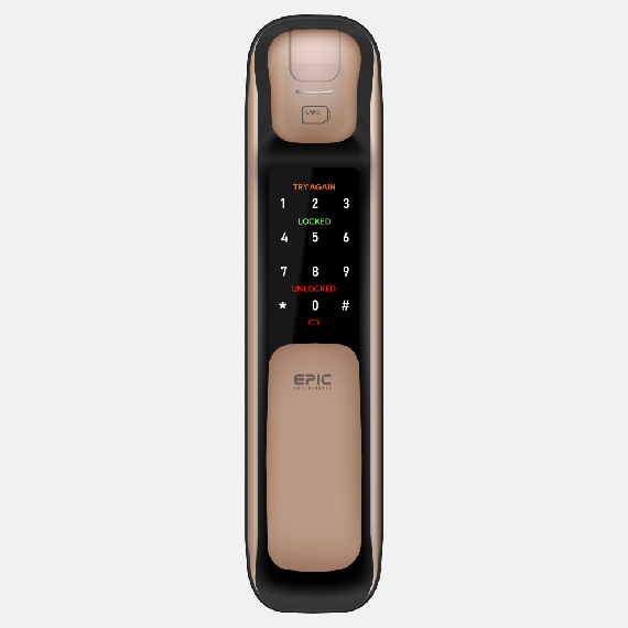 EPIC 5G Push Pull Digital Lock (7 in 1)