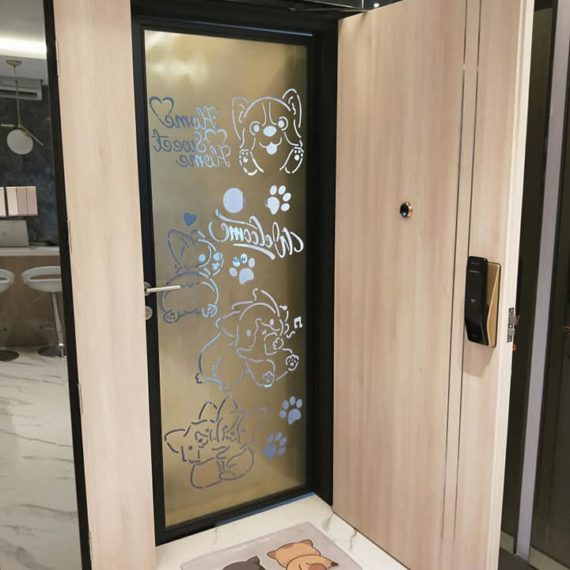 Fire Rated HDB Main Door - In House Laminate