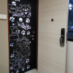 In-House Laminate Solid HDB Main Wooden Door Double Leaf 4×7 Feet