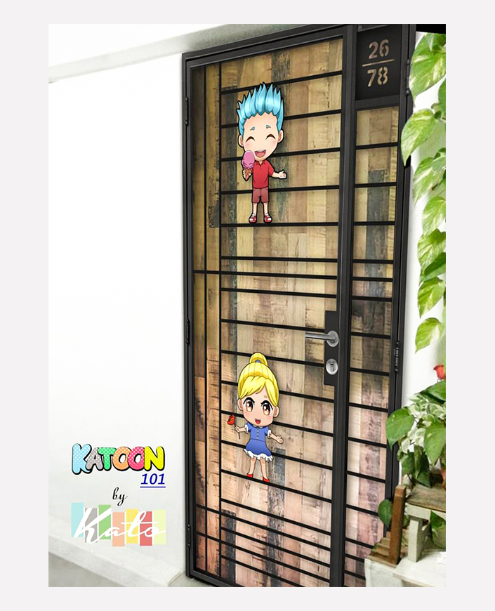 Buy KATO 4D KATOON Laser Cut - HDB Gate @ My Digital Lock. Call 9067 7990. Call 9067 7990