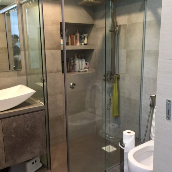 Buy wall to wall glass shower screen - My Digital Lock Singapore Showroom. Call 9067 7990