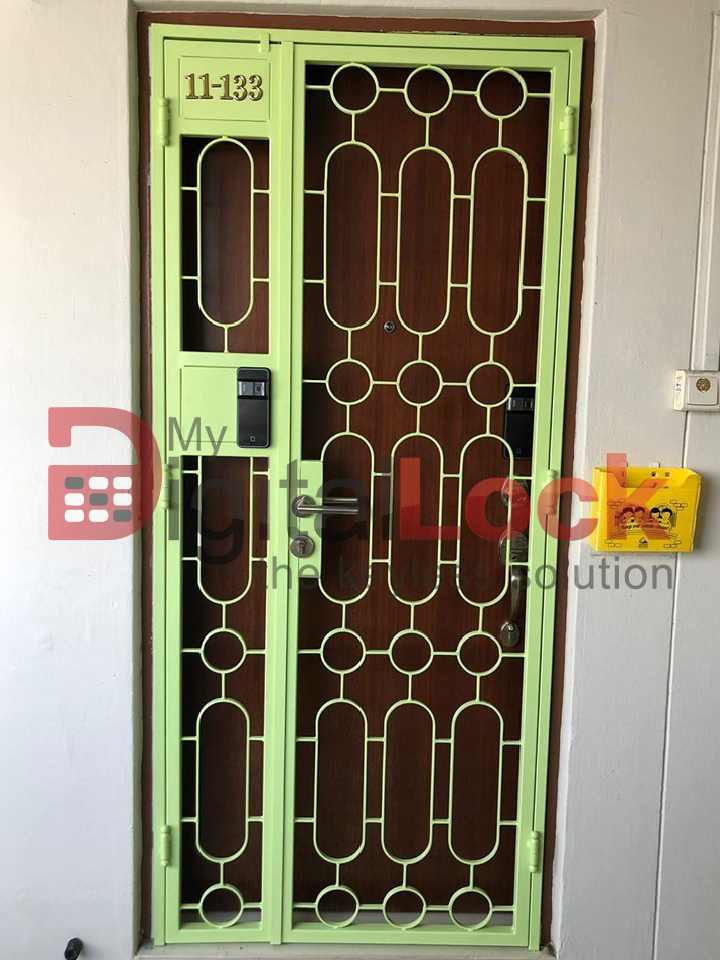 Buy Retro Design HDB Gate @ My Digital Lock. Call 9067 7990