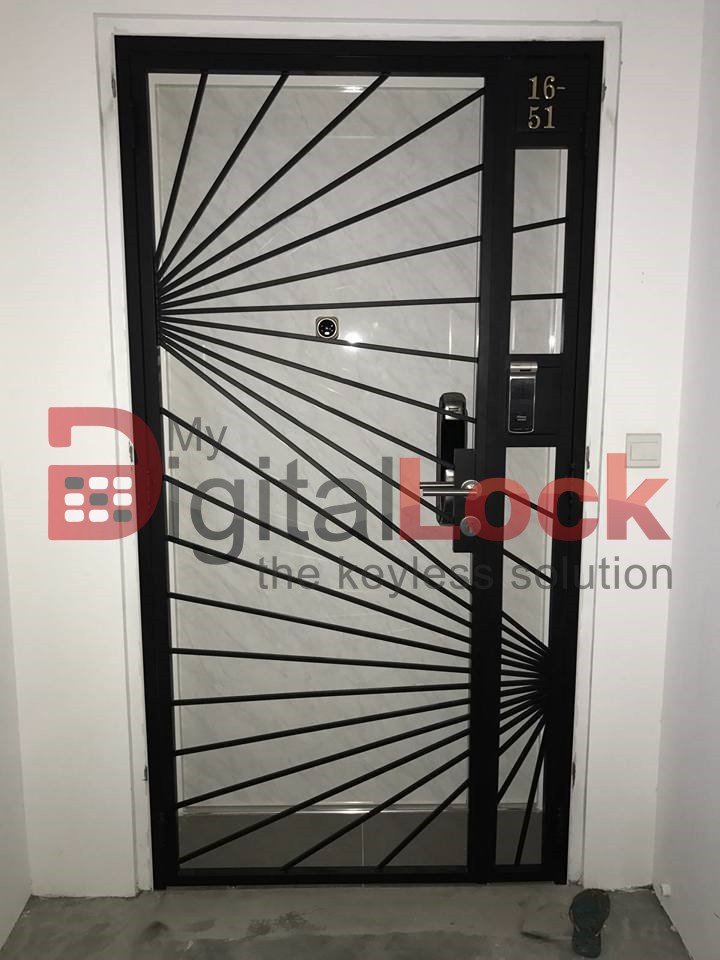 Buy Sunshine Designer - HDB Gate @ My Digital Lock. Call 9067 7990