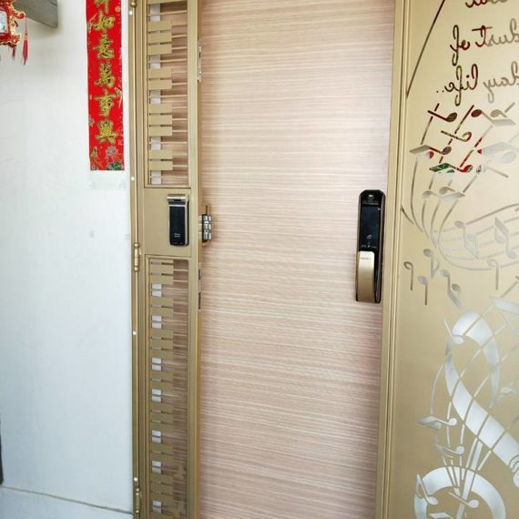 Fire Rated HDB Main Door - VENEER HDB MAIN DOOR