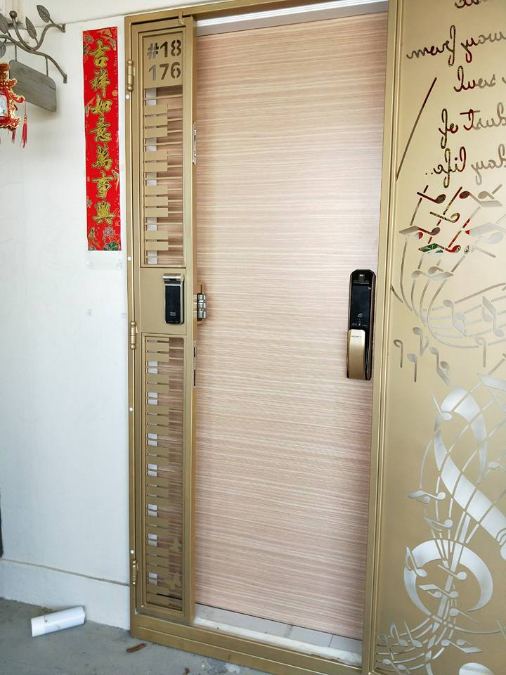 Fire Rated HDB Main Door - VENEER HDB MAIN DOOR
