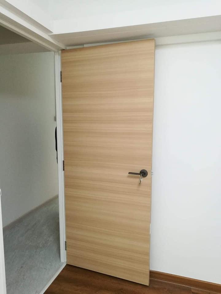 hdb bedroom door - Wood Laminate Bedroom Door (Up to 40 Wood Design)
