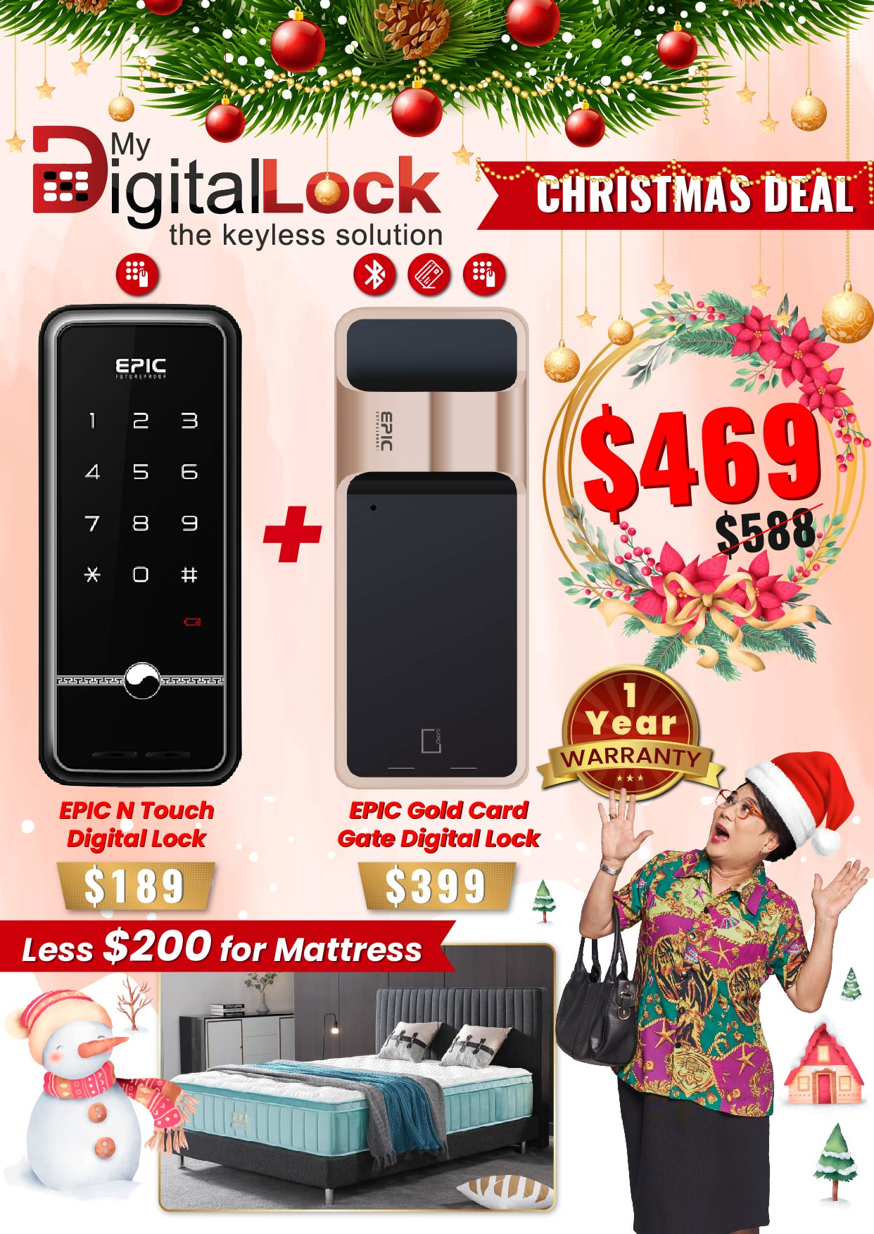 My Digital Lock EPIC N Touch and Gold Card Gate Digital Lock Christmas Promotion 2019