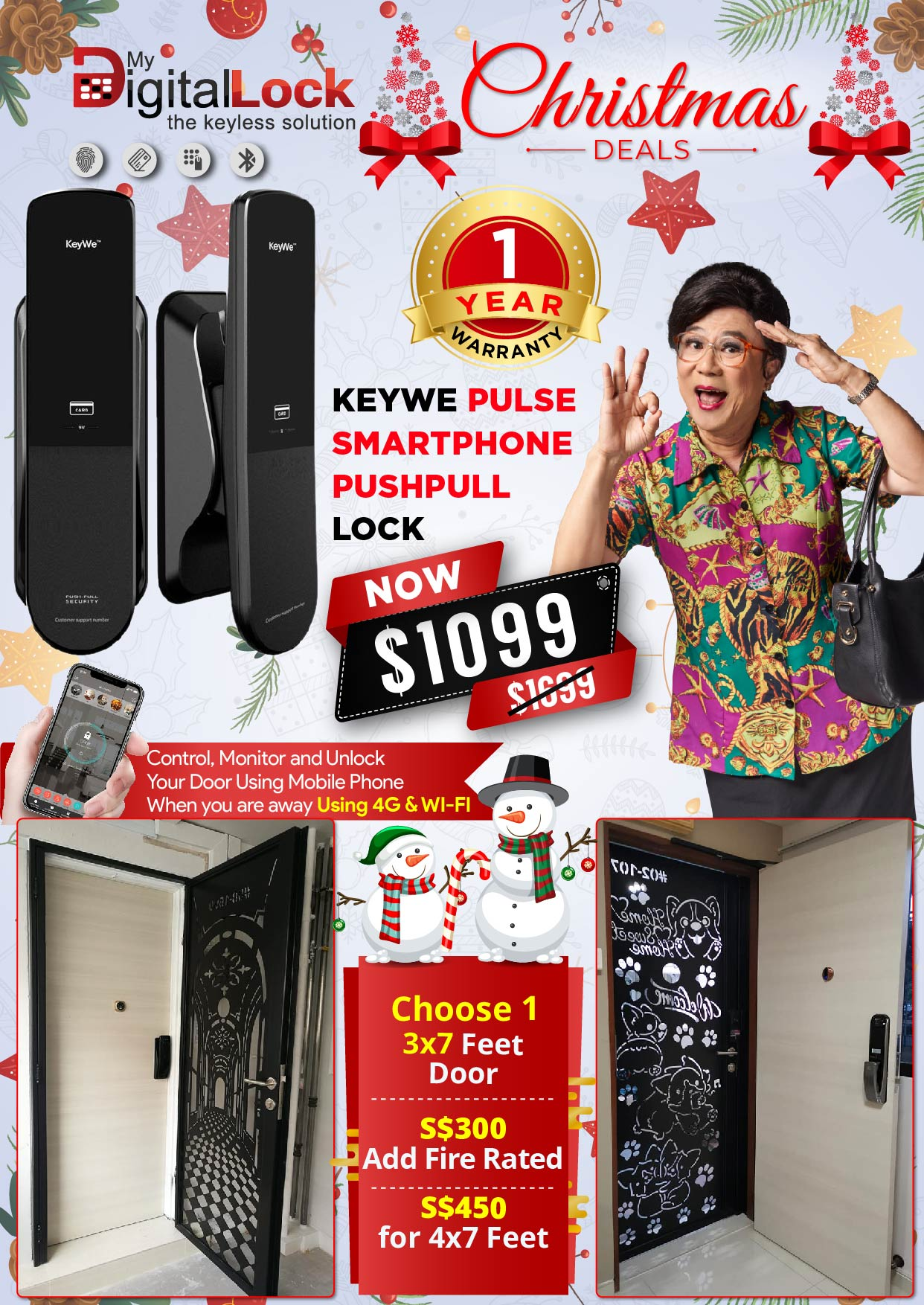 My Digital Lock KeyWe PushPull and Door Christmas Promotion 2019