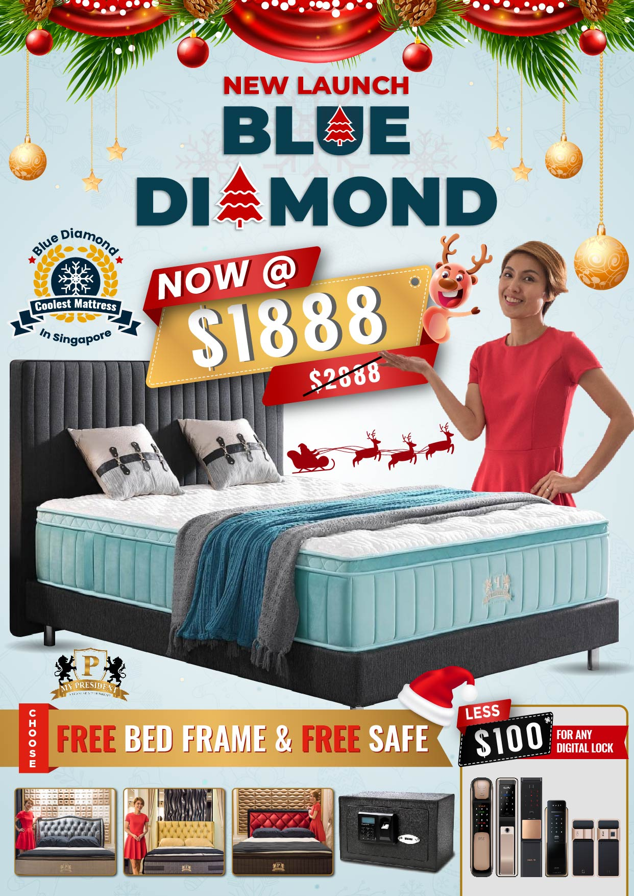 My President Mattress_Blue Diamond Christmas Promotions 2019