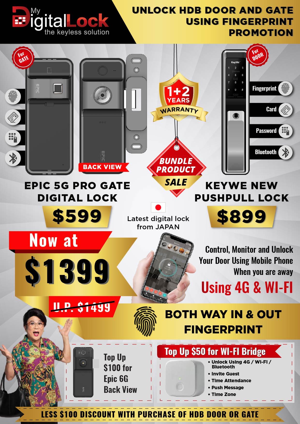 EPIC-5-PRO-Gate-Digital-Lock-and-KeyWe-Black-Push-Pull-Door-Lock-Promotion-2020
