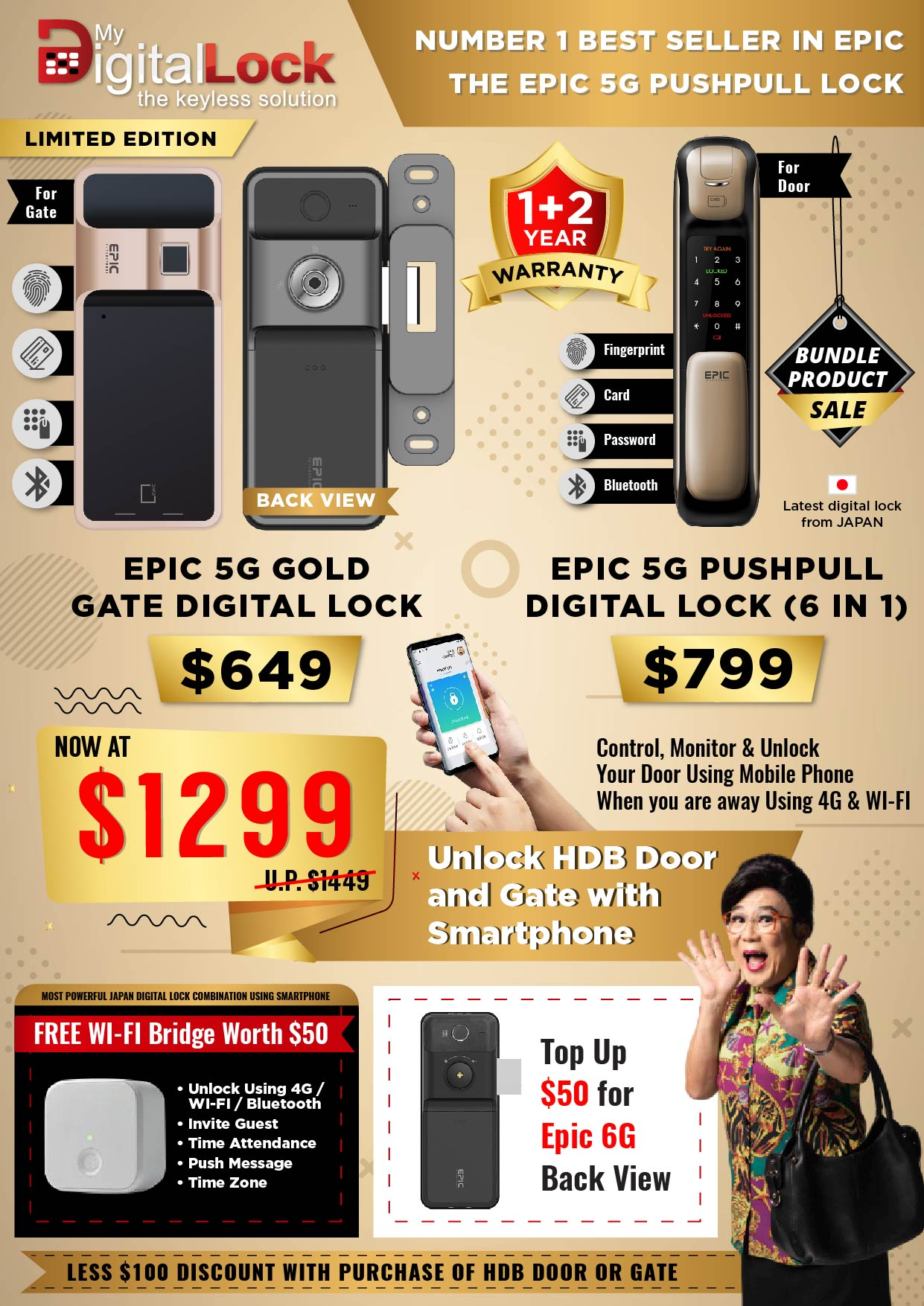 EPIC-5G-Gold-Gate-and-5G-Push-Pull-Digital-Lock-Promotion