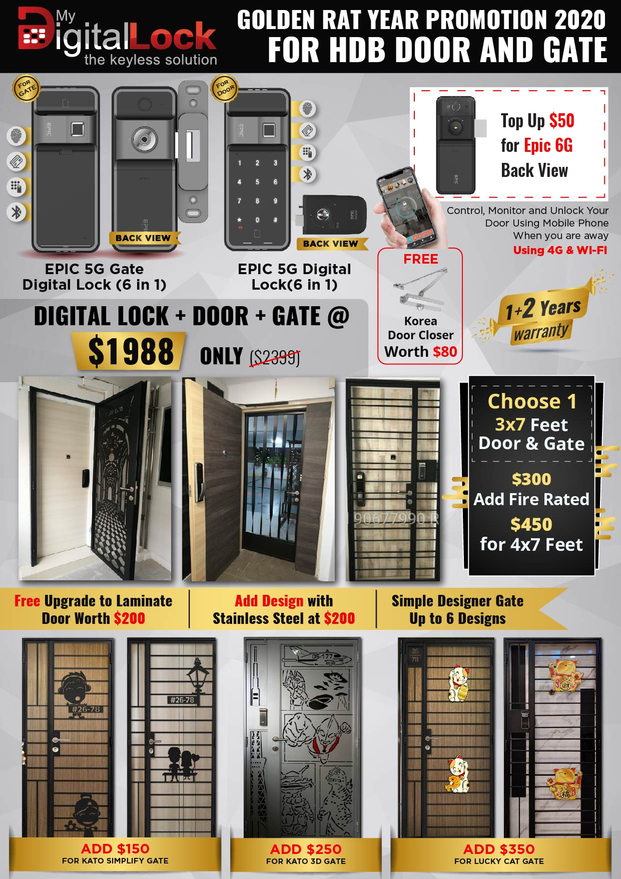 Golden-Rat-Year-HDB-Door-and-Gate-Promotion-with-EPIC-Gate-Digital-Lock-and-5G-Digi