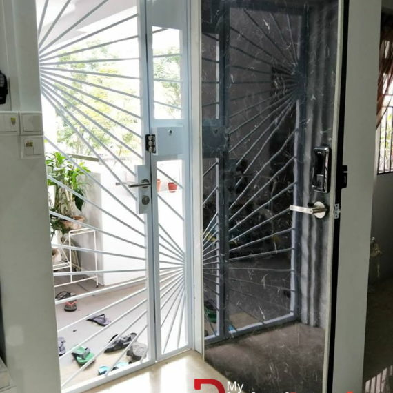 Designer Laminate Solid HDB Main Wooden Door Single Leaf 3×7