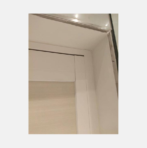 HDB Toilet Door | Free White and Grey Frame