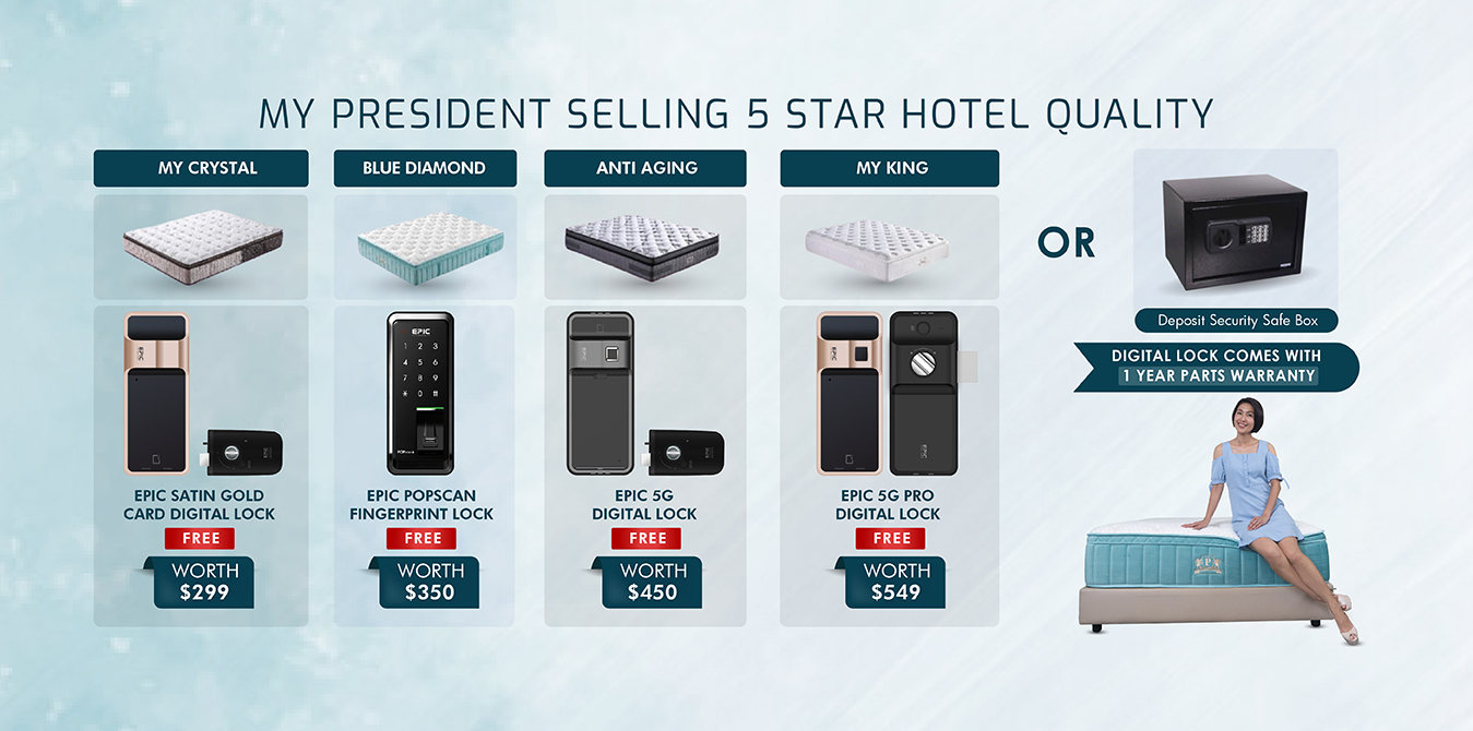 My President Mattress_FREE Digital Lock for Mattress