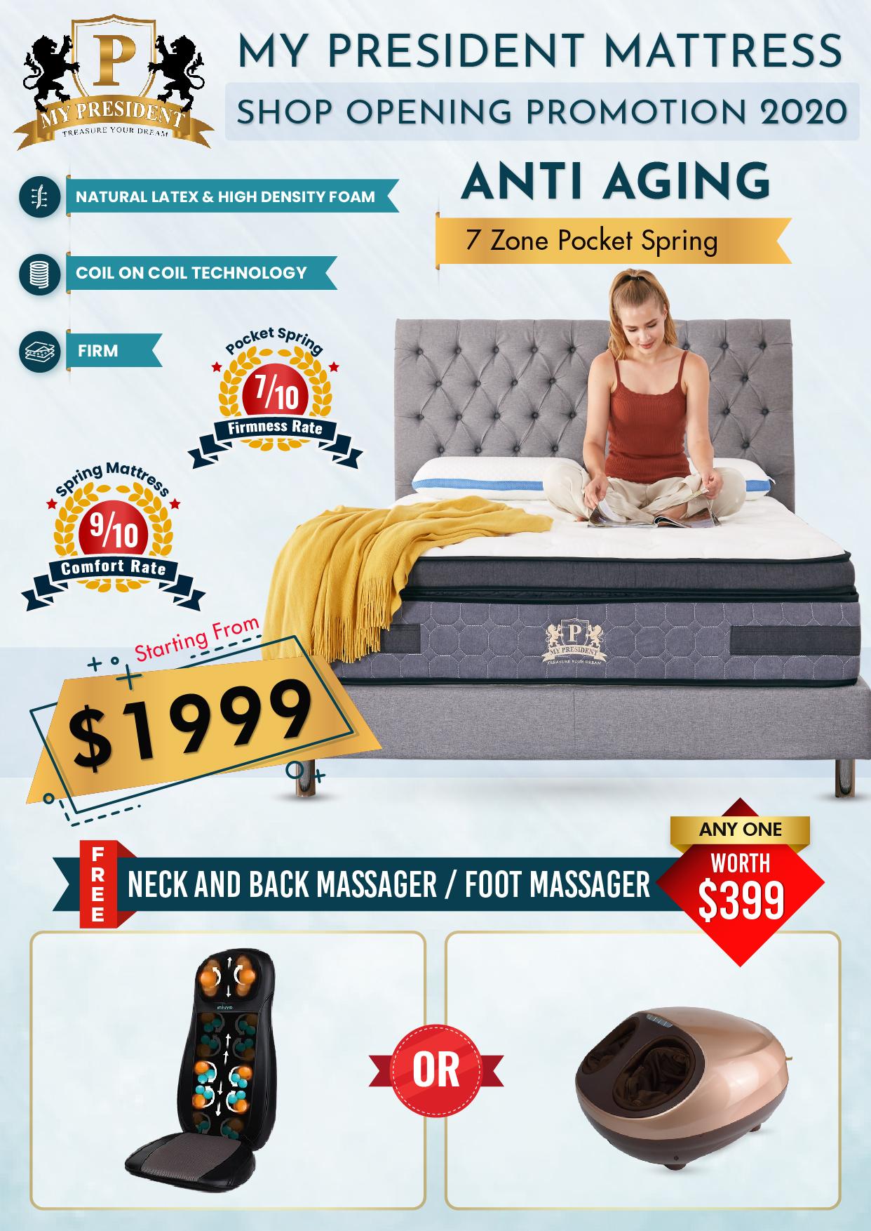 My President Mattress Anti Ageing Mattress