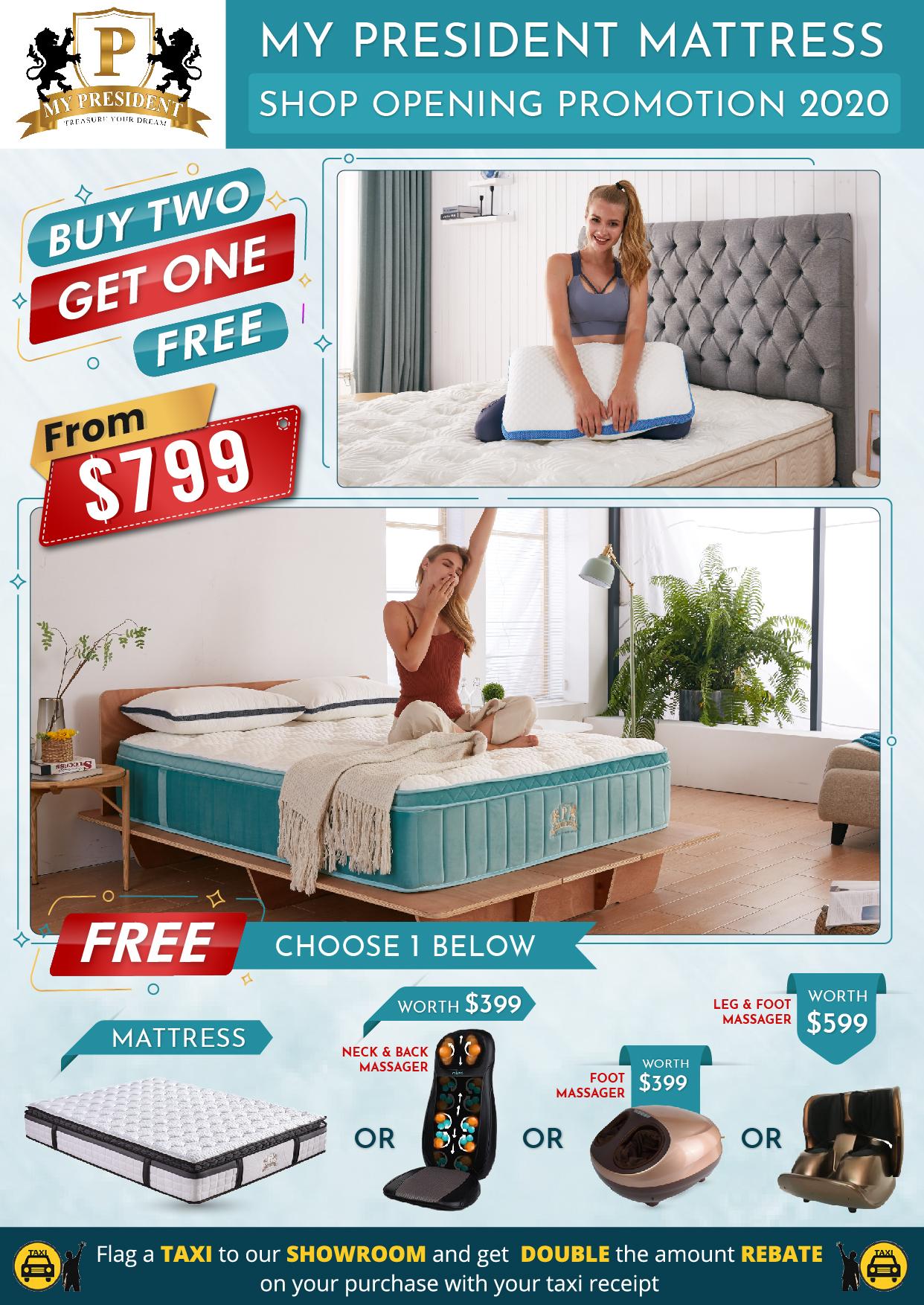 My President Mattress - Buy 2 Get 1 FREE Mattress