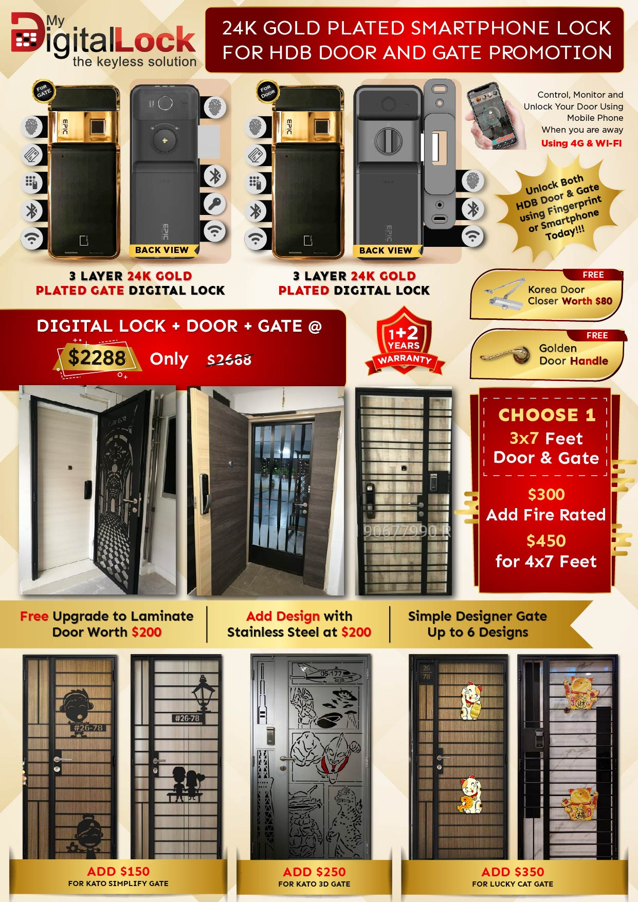 Golden-Rat-Year-HDB-Door-and-Gate-Promotion-with-24K-Gold-Plated-Digital-Lock