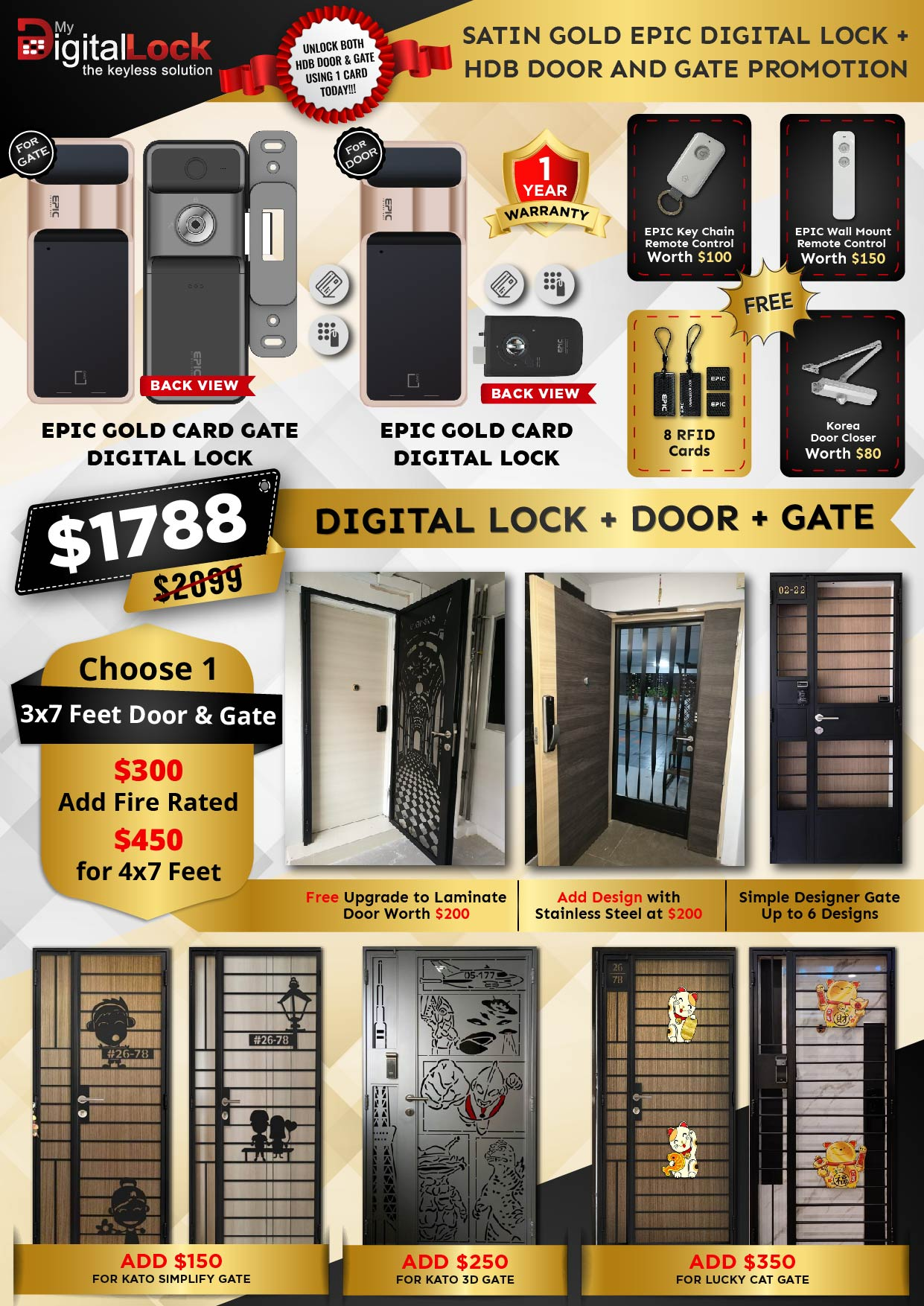 Golden-Rat-Year-HDB-Door-and-Gate-Promotion-with-EPIC-5G-Gate-Digital-Lock