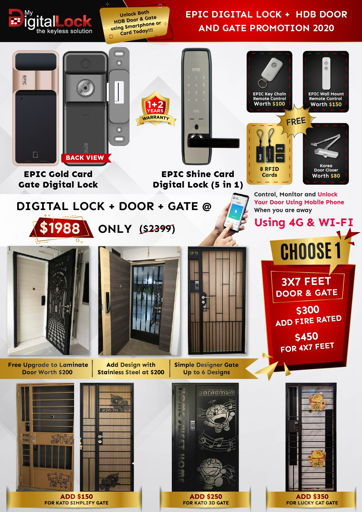 Golden-Rat-Year-HDB-Door-and-Gate-Promotion-with-EPIC-Gold-Card-Gate-Digital-Lock-and-Shine-Card-Digital-Lock-5-in-1