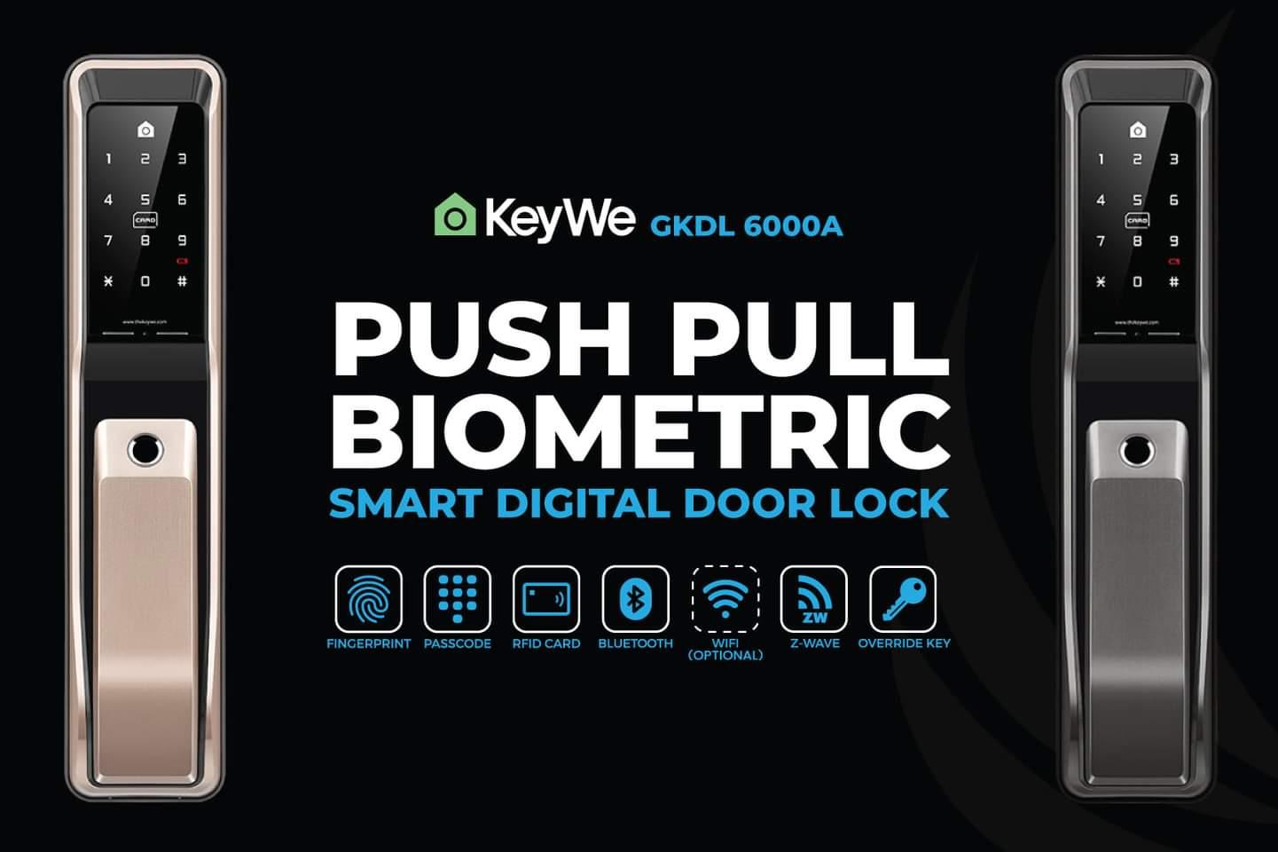 KeyWe Push Pull Door Lock-1