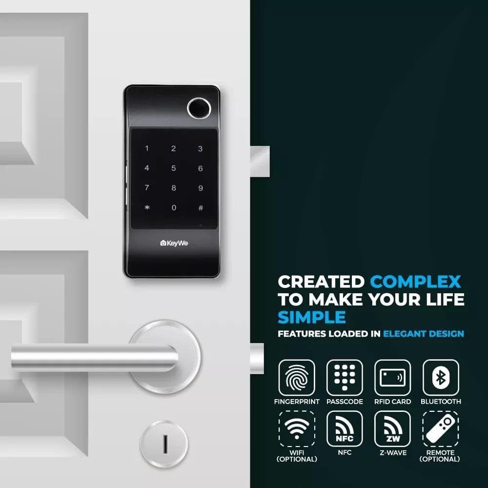 KeyWe Push Pull Door Lock-12