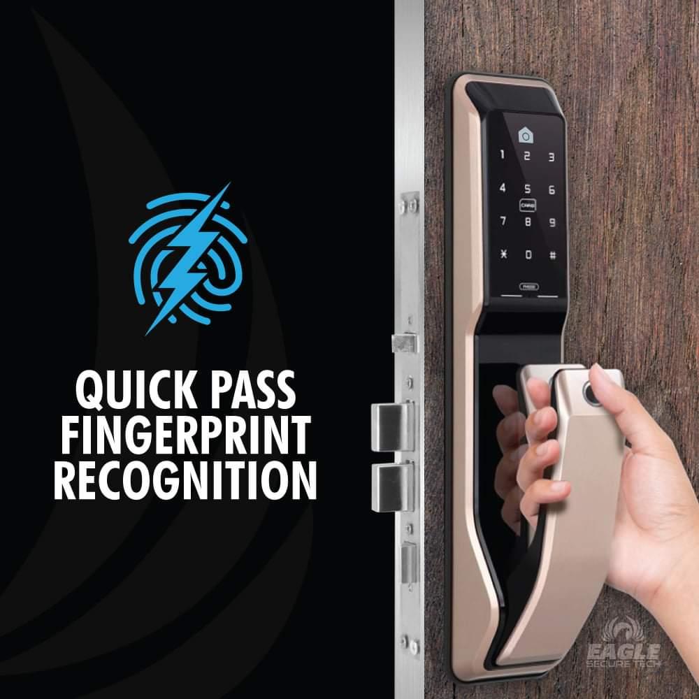KeyWe Push Pull Door Lock-2