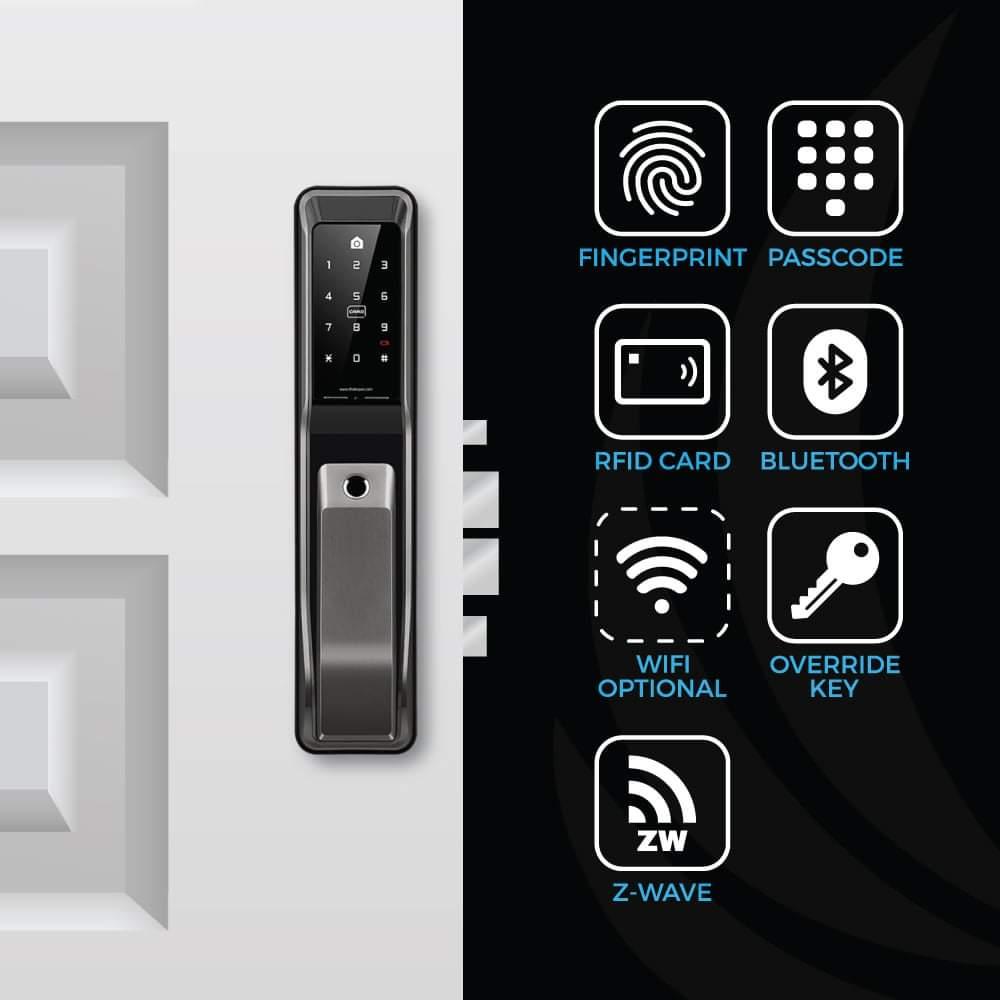 KeyWe Push Pull Door Lock-5