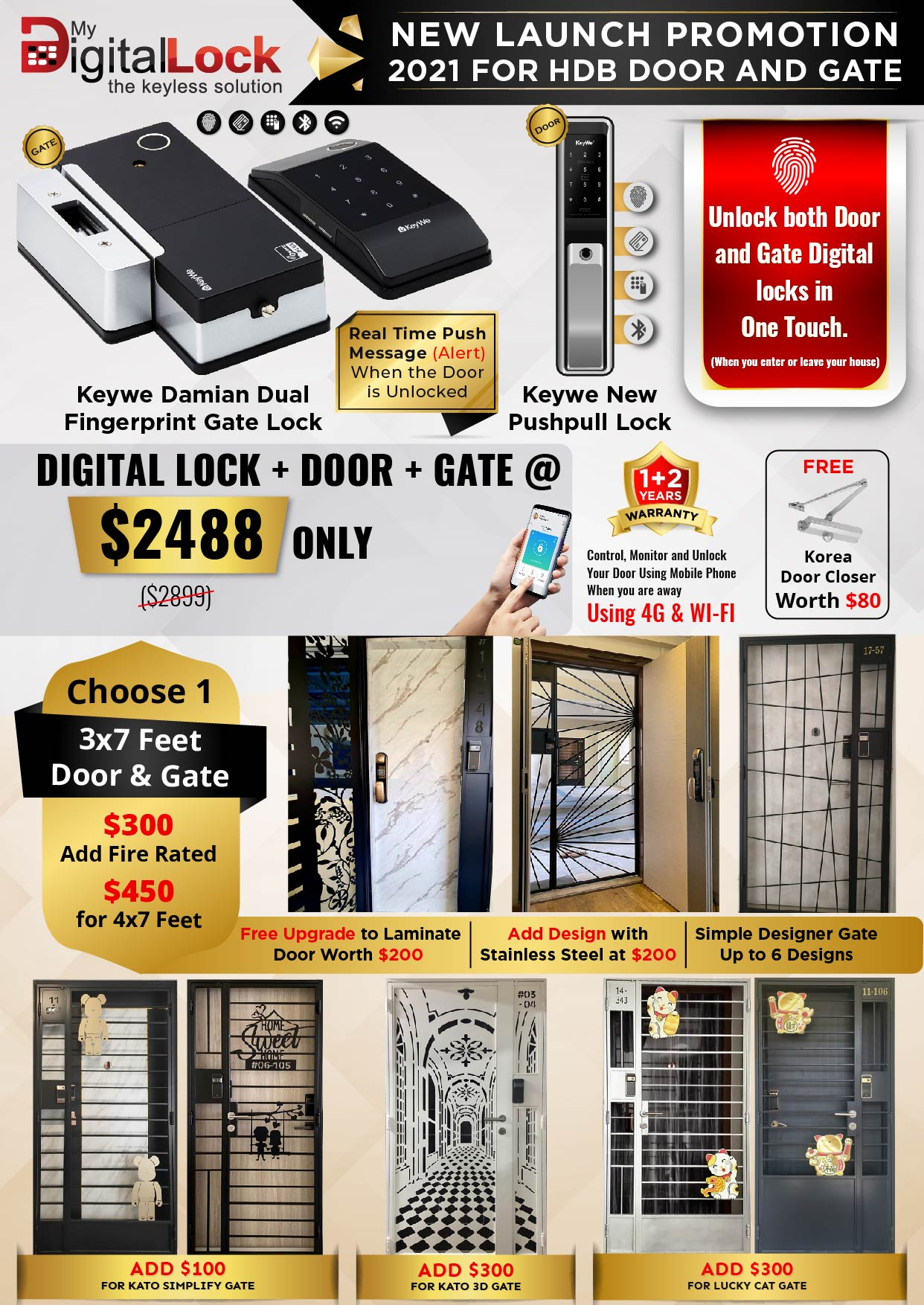 New Launch promotion for HDB and Gate