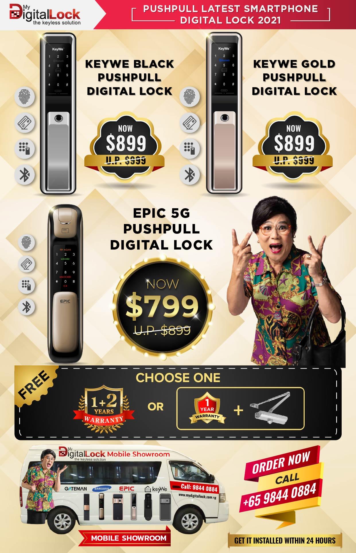 PushPull Latest Smartphone Digital Lock 2021