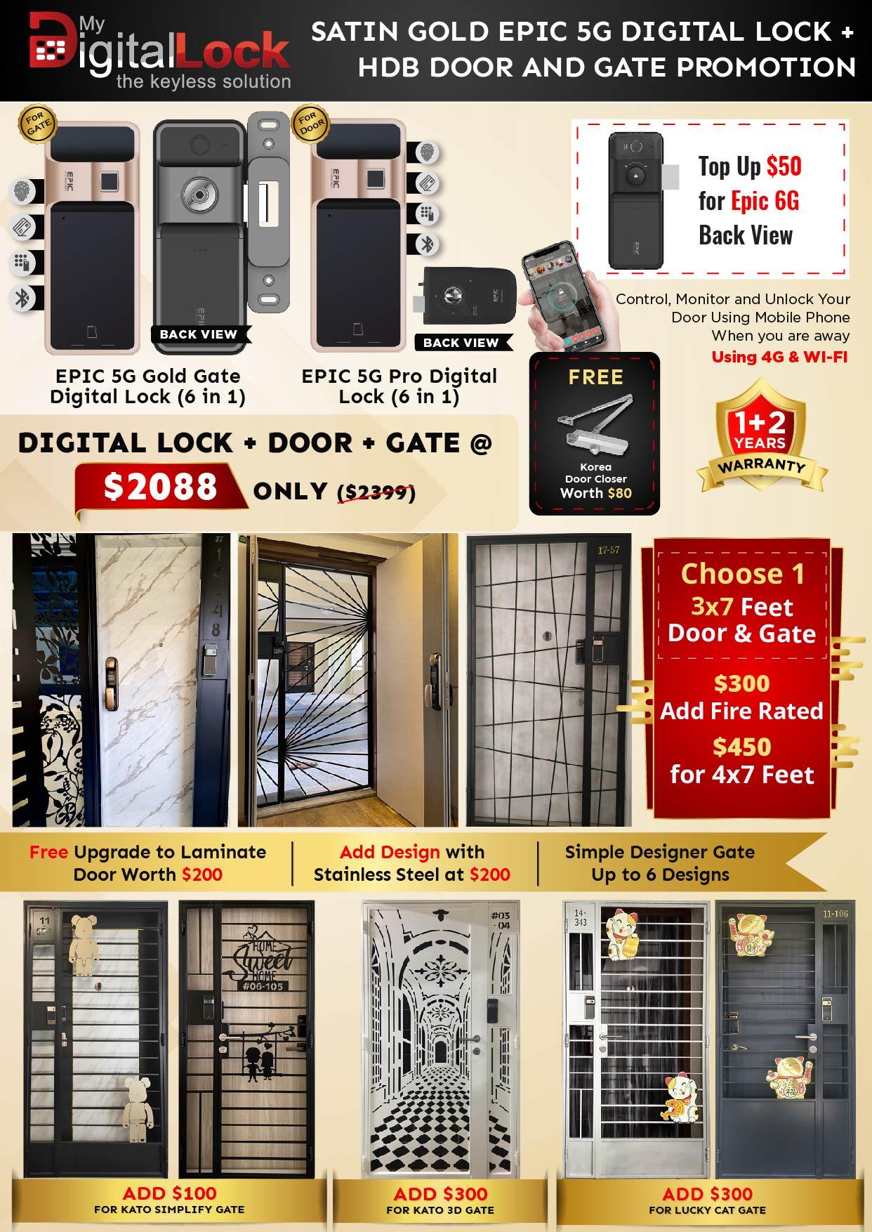 Satic Gold Epic 5G Digital lock