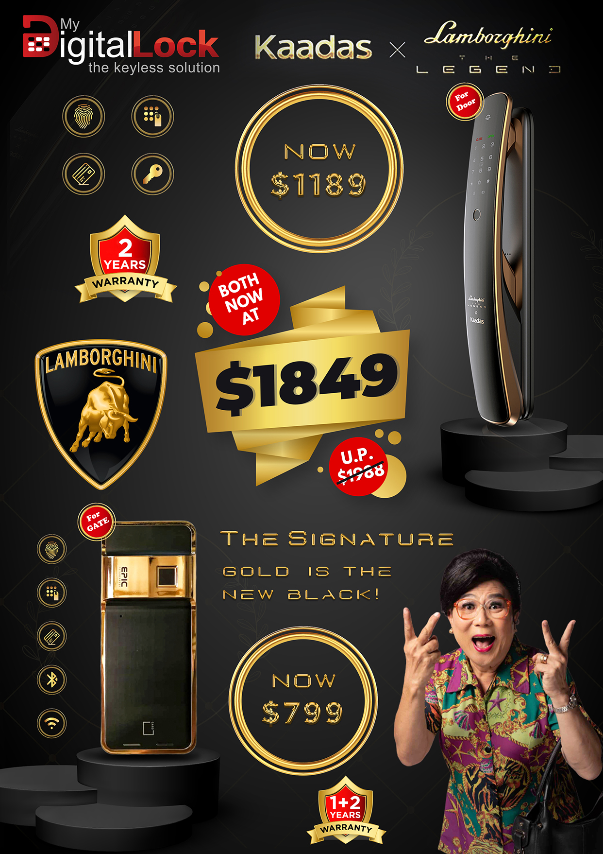 My Digital Lock Lamborghini Promotional Epic 24k