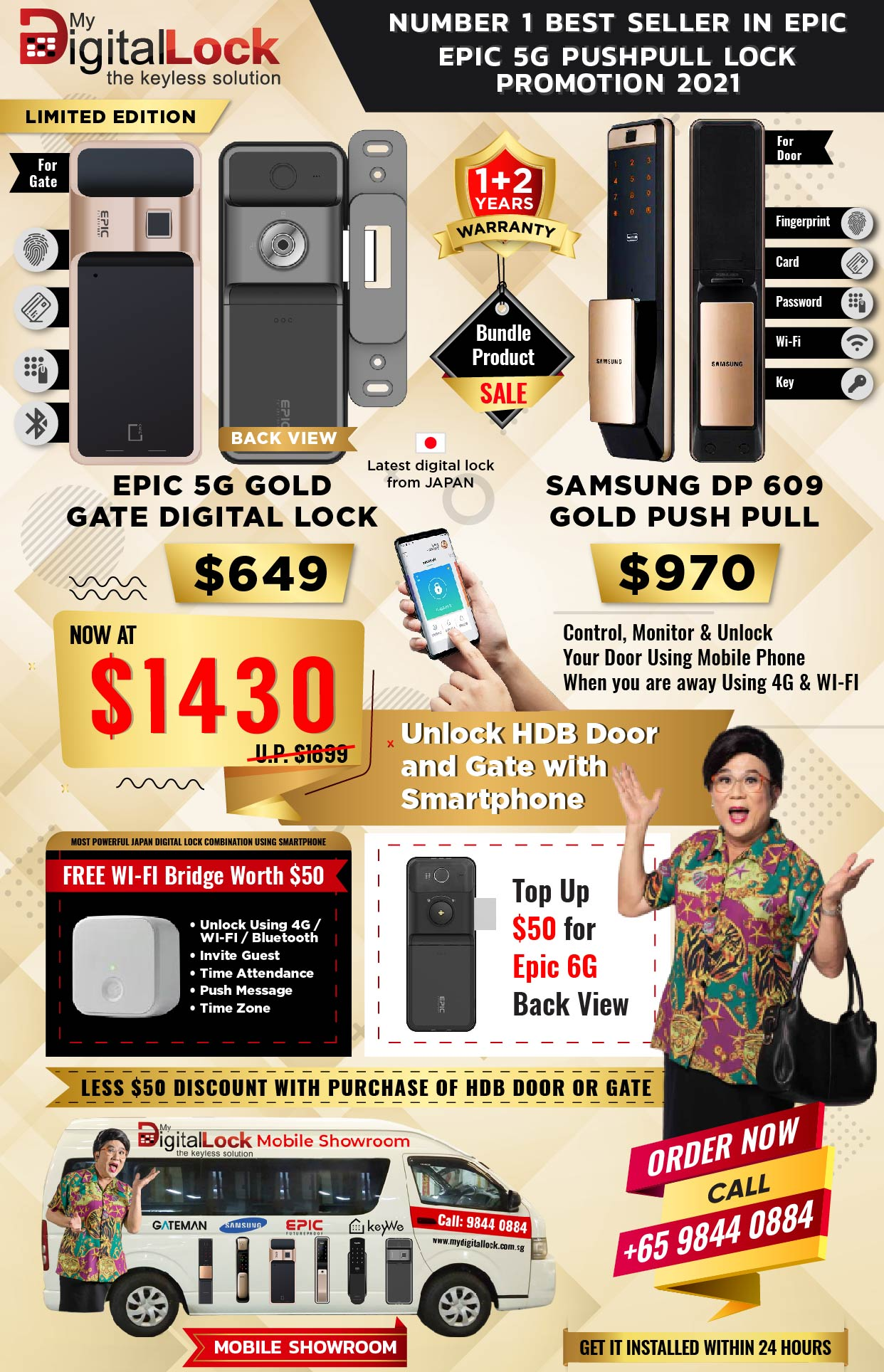 Samsung DP 609 Gold Push Pull Banner