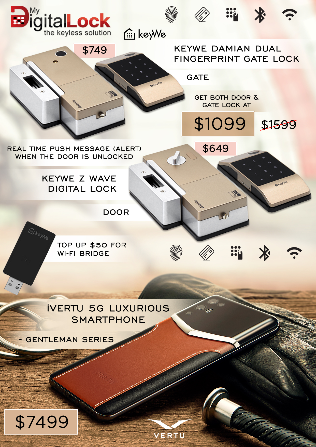 Unlock-HDB-Door-Gate-using-Keywe-Damian-Digital-Lock-iVertu-Smartphone-Promotion-2021